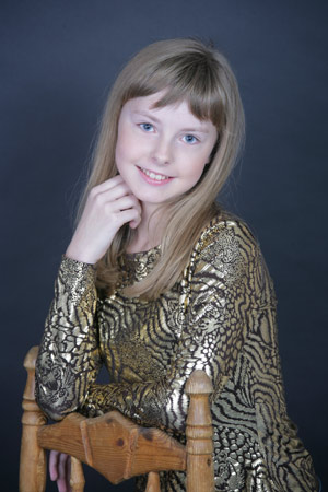 Victoria Beluntsova, young model, born 1997, Moscow, Russia. Photo taken in 2008